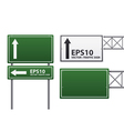 traffic sign green color vector image vector image