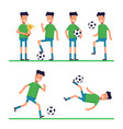 soccer sport athletes football goalkeeper playing vector image