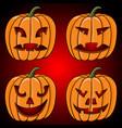 halloween pumpkin collection hand drawn sketch vector image