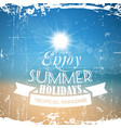 abstract summer poster with beach background vector image