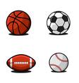 set of balls for football or soccer basketball vector image