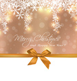 Merry Christmas cute gift with copy space greeting vector image vector image