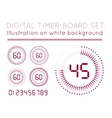 Digital Countdown Timer vector image vector image