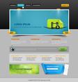 web page vector image vector image