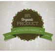 organicy retro label round green vector image