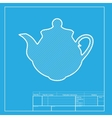 Tea maker Kitchen sign White section of icon on vector image