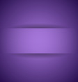 Abstract violet paper with shadow background vector image