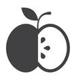 black apple icon vector image