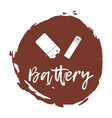 Recycling waste sorting icon - battery vector image