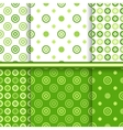 Set of dot seamless patterns vector image