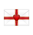 Valentines envelope vector image