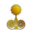 decoration ornament festive floral golden vector image