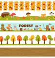 Set of isolated borders forest vector image