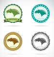Set of horse label vector image