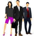 al 0912 businessmen vector image vector image