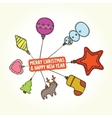 Christmas toys banner vector image vector image