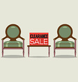Clearance Sale Vintage Chairs vector image