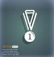 medal for first place icon On the blue-green vector image