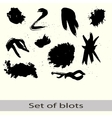 set of different blots vector image