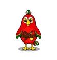 Cute cartoon pirate parrot vector image