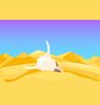 desert mountains sandstone wilderness landscape vector image