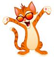 happy cat wearing sunglasses vector image