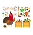 Harvest clip art fruits vegetables for vector image