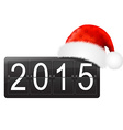 New Year Counter With Santa Hat vector image