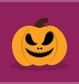 orange halloween pumkin vector image