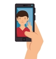 photography selfie style isolated vector image