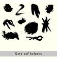 set of different blots vector image
