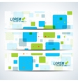 Set of horizontal banners Background with vector image