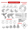 infographic sketch graph chart elements vector image vector image