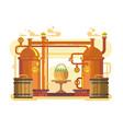 brewery beer design flat vector image