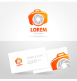 photo smile symbol emblem sign camera vector image vector image