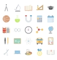Education and school color flat icons set vector image