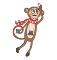 Funny Travel Monkey vector image