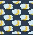 baby sleeping on the moon seamless pattern vector image