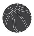 Basketball silhouette vector image