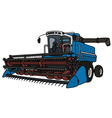 Blue and white harvester vector image