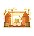 brewery beer design flat vector image