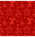 Christmas new year seamless pattern background vector image