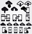 cloud app icon set vector image