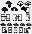 cloud app icon set vector image