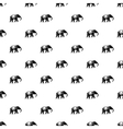 Elephant pattern simple style vector image