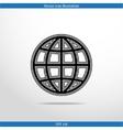 globe web flat icon vector image