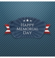 Happy Memorial Day Badge with Ribbon vector image