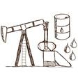 Oil - petrol doodles vector image
