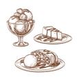 Set of desserts vector image