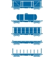 Set of Railway freight cars - vector image